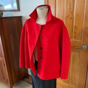 JIL SANDERS Red 100% Virgin Wool Blazer size 40